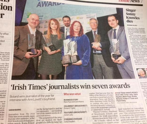 Irish Times foreign cor