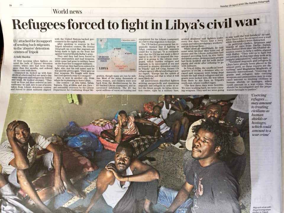 telegraph libya refugees